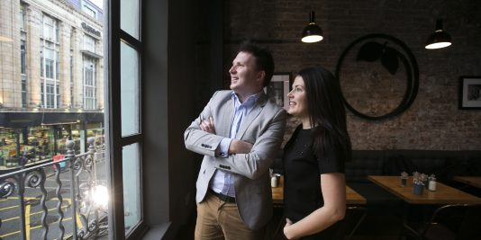 Derek F. Butler, CEO, Grid Finance and Katie Cantwell, Owner, KC Peaches