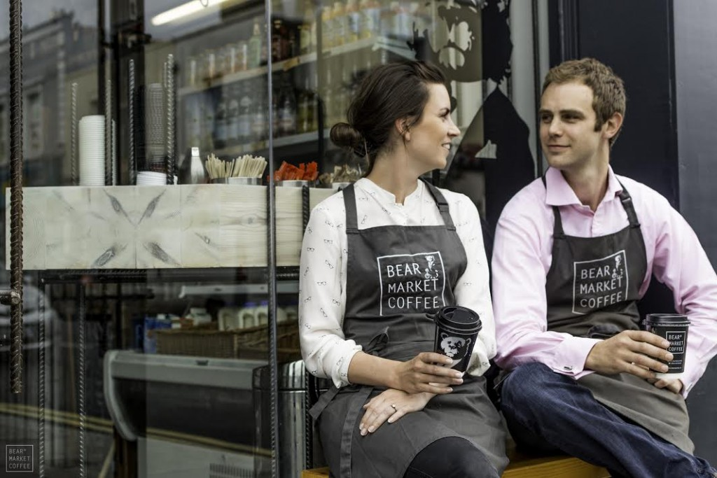Architects turned baristas Stephen Deasy and Ruth Hussey