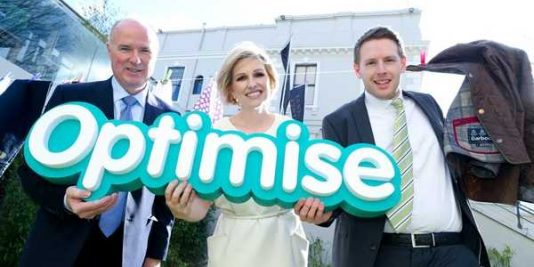 Pictured at the launch of IEDR's 2016 Optimise Fund: David Curtin, CEO IEDR, Domini Kemp, Optimise Brand Ambassador and Luke Carton, Founder of 2015 Optimise winner CleanFreaks.ie.